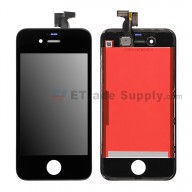 For Apple iPhone 4S LCD Screen and Digitizer Assembly with Frame  Replacement  - Black - Grade S+