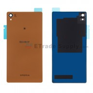 For Sony Xperia Z3 Battery Door Replacement - Copper - With Sony and Xperia Logo - Grade S+