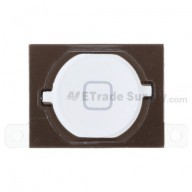 For Apple iPhone 4S Home Button with Rubber Gasket and Adhesive Replacement - White - Grade S+