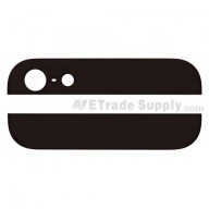For Apple iPhone 5 Top and Bottom Glass Cover - Black - Grade S+