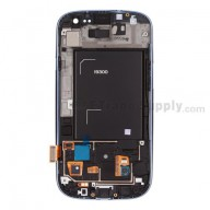 Replacement Part for Samsung Galaxy S III (S3) GT-I9300 LCD Screen and Digitizer Assembly with Front Housing - Sapphire - A Grade