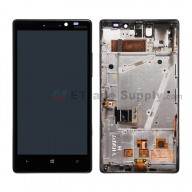 For Nokia Lumia 930 LCD Screen and Digitizer Assembly with Front Housing Replacement - Black - With Logo - Grade S+