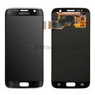 For Samsung Galaxy S7 G930/G930F/G930A/G930V/G930P/G930T/G930R4/G930W8 LCD Screen and Digitizer Assembly Replacement - Black - With Logo - Grade S+