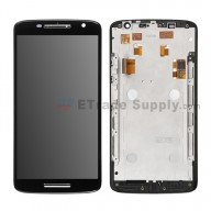 For Motorola Moto X Play XT1561/XT1562 LCD and Digitizer Assembly with Front Housing Replacement(5.5 inches) - Black - Without Logo - Grade S+