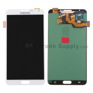 For Samsung Galaxy Note 3 N9005 LCD Screen and Digitizer Assembly  Replacement - White  - Grade S+