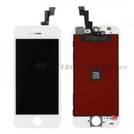 For Apple iPhone 5S LCD Screen and Digitizer Assembly with Frame Replacement - White - Grade S+