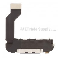 For Apple iPhone 4S Charging Port Flex Cable Ribbon Assembly Replacement - Black - Grade S+