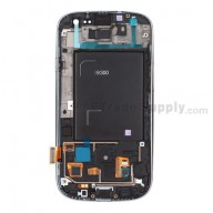 Replacement Part for Samsung Galaxy S III (S3) GT-I9300 LCD Screen and Digitizer Assembly with Front Housing - White - A Grade