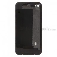 Replacement Part for Apple iPhone 4 Battery Door (AT&T) - Black - A Grade