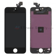 For Apple iPhone 5 LCD Screen and Digitizer Assembly with Frame Replacement - Black - Grade S+
