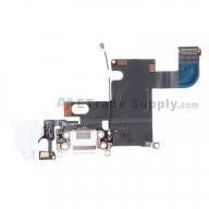 For Apple iPhone 6 Charging Port Flex Cable Ribbon Replacement - White - Grade S+