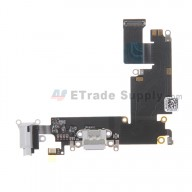 For Apple iPhone 6 Plus Charging Port Flex Cable Ribbon Replacement - Light Gray - Grade S+