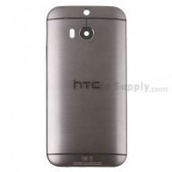 For HTC One M8 Rear Housing  Replacement (Gray) - HTC Logo and Sprint Version - With Words - Grade S+