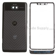 For Motorola Razr i XT890 Housing Replacement - Black - With Intel Logo - Grade S+