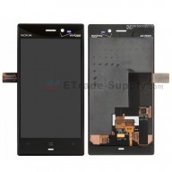 OEM Nokia Lumia 928 LCD Screen and Digitizer Assembly - Black - With Nokia and Verizon Logo