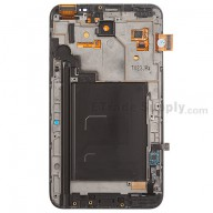 Replacement Part for Samsung Galaxy Note GT-N7000 LCD Screen and Digitizer Assembly with Front Housing - Black - A Grade