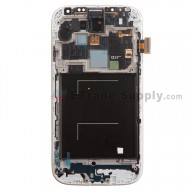 Replacement Part for Samsung Galaxy S4 SGH-M919 LCD Screen and Digitizer Assembly with Front Housing - Black - A Grade