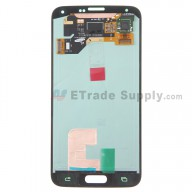 Replacement Part for Samsung Galaxy S5 SM-G900 LCD Screen and Digitizer Assembly - White - With Samsung Logo Only - A Grade
