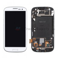 For Samsung Galaxy S III SGH-I747/T999 LCD Screen and Digitizer Assembly with Front Housing Replacement - White - Grade S+
