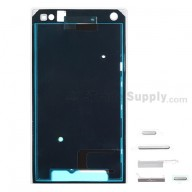 For Sony Xperia S LT26i Front Housing with Adhesive Replacement ,White - Grade S+