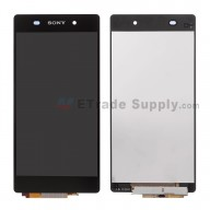 For Sony Xperia Z2 LCD Screen and Digitizer Assembly Replacement - Black - Sony Logo - Grade S+