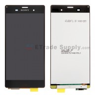 For Sony Xperia Z3 LCD Screen and Digitizer Assembly Replacement - Black - With Logo - Grade S+