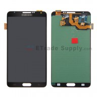 For Samsung Galaxy Note 3 N9005 LCD Screen and Digitizer Assembly  Replacement - Black  - Grade S+