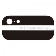 For Apple iPhone 5 Top and Bottom Glass Cover Replacement - Black - Grade R