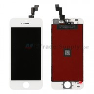 Replacement Part for Apple iPhone 5S LCD Screen and Digitizer Assembly with Frame (Assembled Flex) - White - A Grade