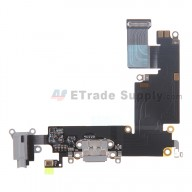 For Apple iPhone 6 Plus Charging Port Flex Cable Ribbon Replacement - Dark Gray - Grade S+