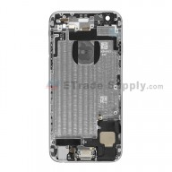 For Apple iPhone 6 Rear Housing Assembly With Apple Logo Replacement  (Without IMEI Code, NO. A1549) - Gray - With Words - Grade S+
