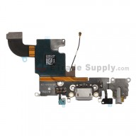 For Apple iPhone 6S Charging Port Flex Cable Ribbon Replacement - Dark Gray - Grade S+