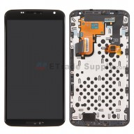 For Motorola Nexus 6 LCD Screen and Digitizer Assembly with Front Housing Replacement - Black - Without Any Logo - Grade S+