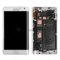 For Samsung Galaxy Note Edge Samsung-N915/Samsung-N915T LCD Screen and Digitizer Assembly with Front Housing Replacement - White - Grade S+
