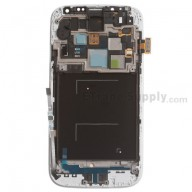 Replacement Part for Samsung Galaxy S4 SCH-I545 LCD and Digitizer Assembly with Front Housing - White - Samsung Logo - A Grade