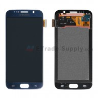 For Samsung Galaxy S6 SM-G920A LCD Screen and Digitizer Assembly  Replacement  - Sapphire - Samsung Logo - Grade S+