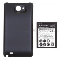 For Samsung Galaxy Note GT-N7000 Extended Life Battery with Over-sized Battery Door  Replacement (5000 mAh) - Black - Grade R
