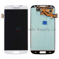 For Samsung Galaxy S4 SGH-M919 LCD Screen and Digitizer Assembly  Replacement  - White - Samsung Logo - Grade S+