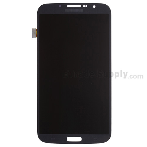 For Samsung Galaxy Mega 6.3 I9200 LCD Screen and Digitizer Assembly  Replacement - Black - With Samsung Logo - Grade S+