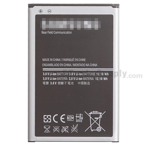 For Samsung Galaxy Note 3 N9006/N900/N9005/N900A/N900P/N900T/N900V/N900R4 Battery Replacement - Grade S+