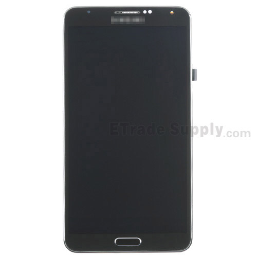 For Samsung Galaxy Note 3 N900 LCD Screen and Digitizer Assembly with Front Housing Replacement - Black - Grade S+