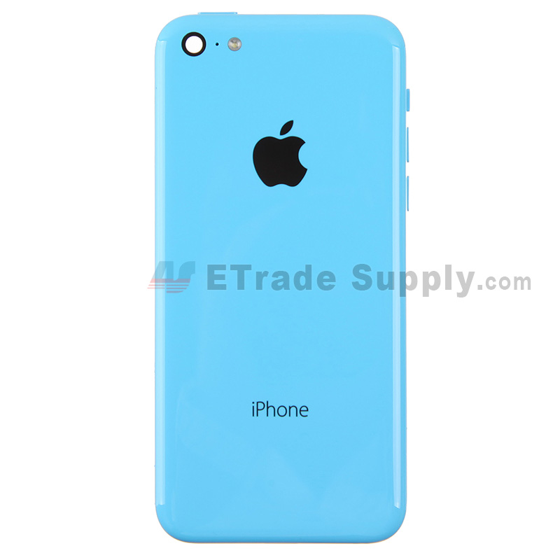 Replacement Part for Apple iPhone 5C Rear Housing Assembly With Apple Logo - Blue - Without Words - A Grade