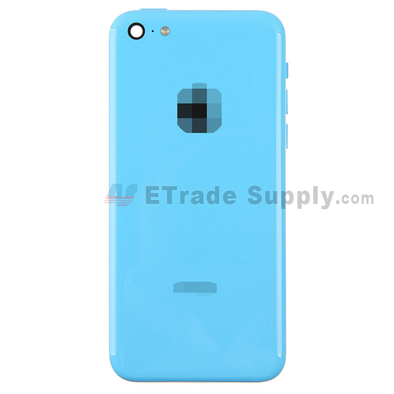 For Apple iPhone 5C Rear Housing Assembly With Apple Logo Replacement - Blue - Without Words - Grade A