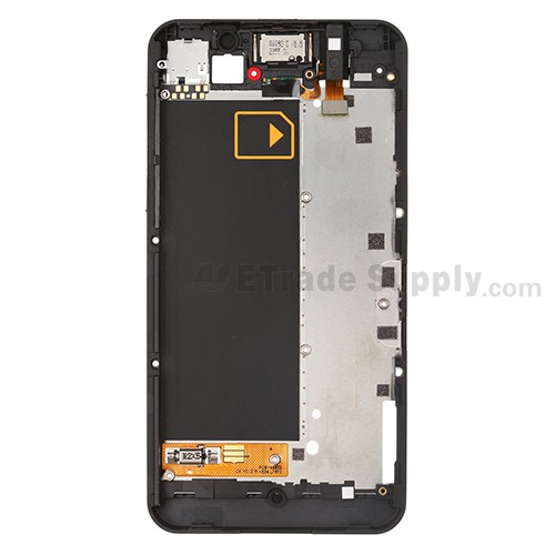 For BlackBerry Z10 Middle Plate  Replacement (3G Version) ,White - Grade S+