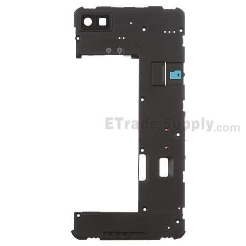 For BlackBerry Z10 Rear Housing  Replacement (Canada 4G Version) - Black - Grade S+