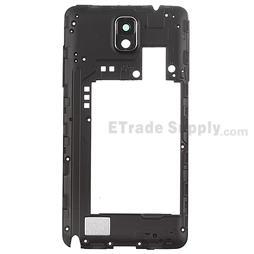 For Samsung Galaxy Note 3 SM-N900V Rear Housing  Replacement - Black - Grade S+