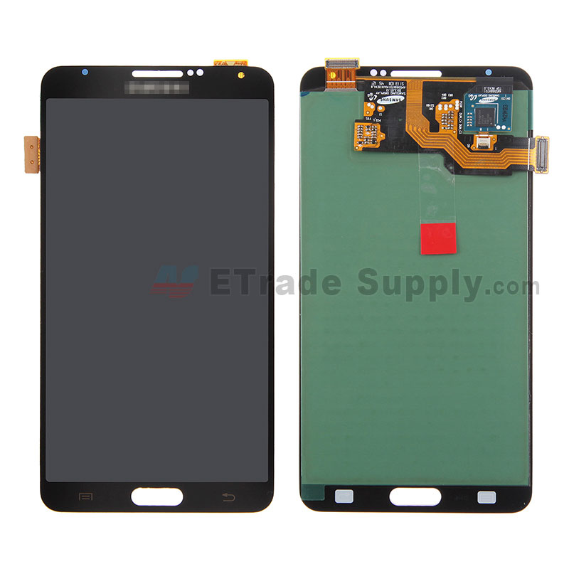 For Samsung Galaxy Note 3 SM-N900A LCD Screen and Digitizer Assembly  Replacement  - Black - Grade S+
