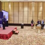 President Cauce speaking to a reception for Beijing-area UW alumni