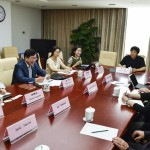 President Cauce meeting with Center for Health Statistics & Information and Director General Meng Qun on population health