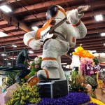 Astronaut on Cal Poly Rose Parade float